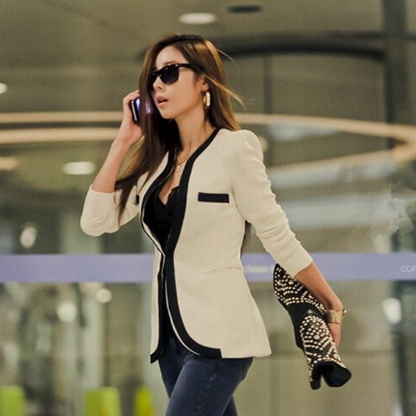 新しいファッションレディースエレガントなロングスリーブカーディガンキャリアコートのアウトレットジャケットスリムスーツブレザー