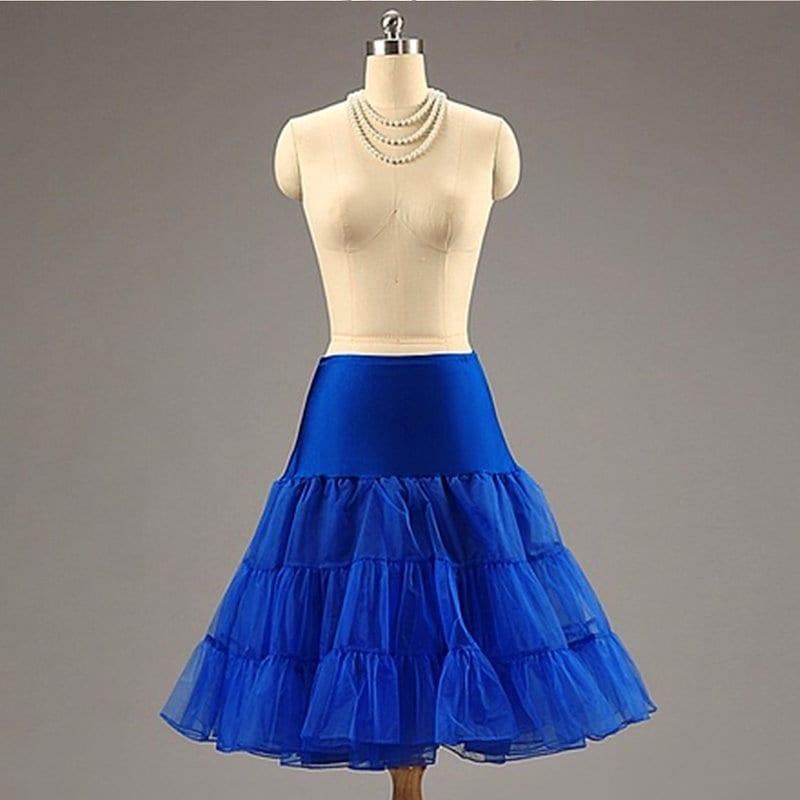 レトロロカビリーアンダースカートスウィングヴィンテージペチコートファンシーネットスカート