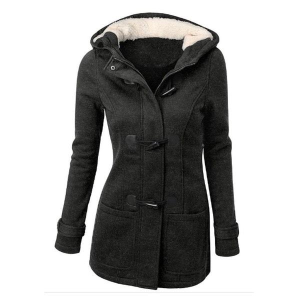 10色レディースファッションダブルブレストウールジャケットコートパーカー女性女の子ウォームプラスサイズS-5XL
