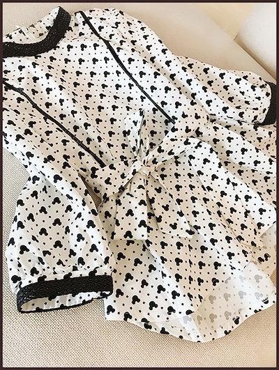 ランタンスリーブ×ミッキーのコラボ☆ボトミングシャツジャケット