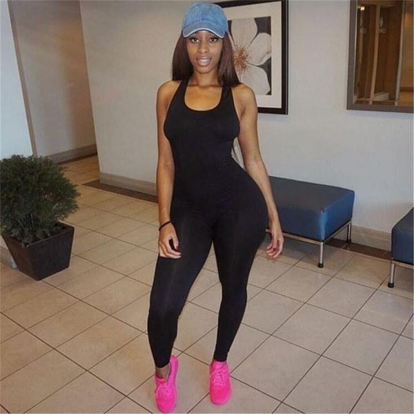 Women Casual Sleeveless Bodycon Romper Jumpsuit Club Bodysuit Long Pants  Fashion Mall