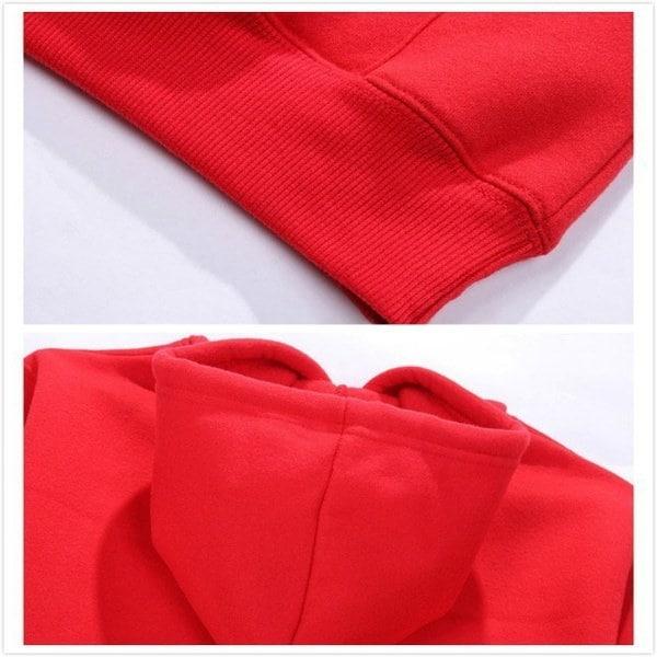ウォームメンズ女性ファッション1PCウォームパーカースエットシャツBTSフリースコットンブラックレッドグレーカップルスウェット