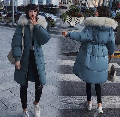 2018秋冬新作!トレンドのファーアイテム☆フードに高級感のあるファーが付いた、丈長めのダウンコート♪M〜3XLまで☆C30809