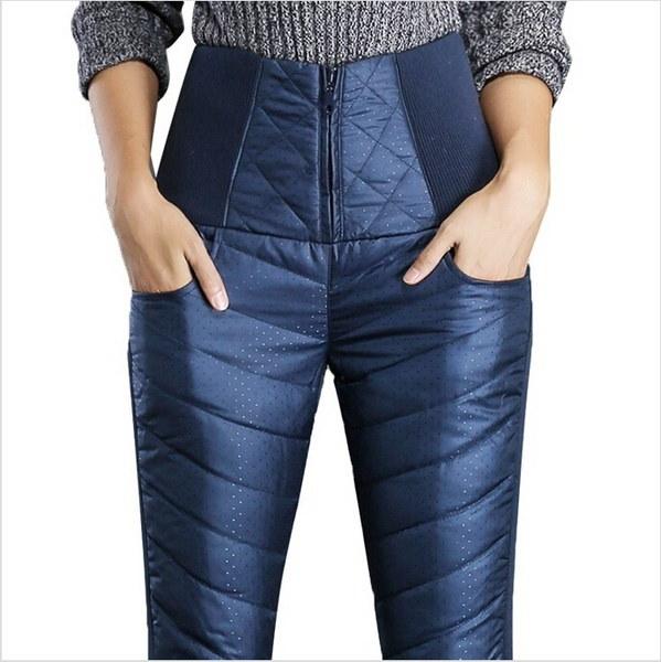 ファッションペンシルパンツシックなズボン冬のパンツハイウエストアウターウェアファッションスリムウォームW