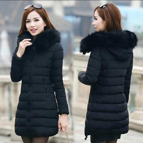 S-5XLプラスサイズの女性の冬暖かいフードダウン綿パディングパーカー女性用