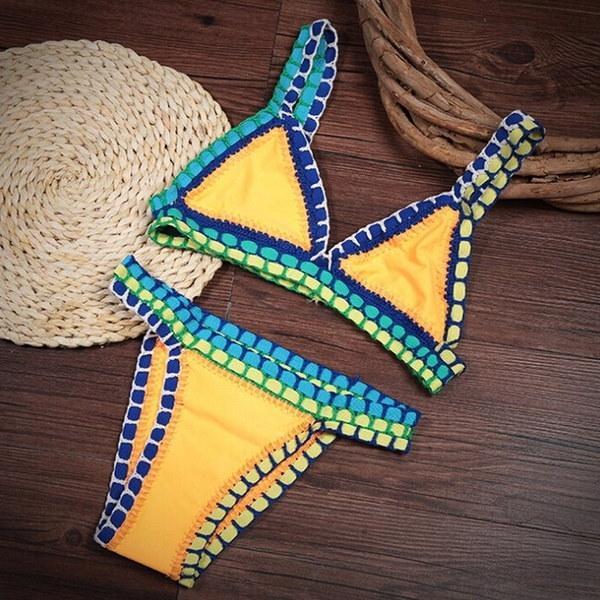 2016 Hot New Arrivalsセクシーな手作りかぎ針編みのビキニ水着ブラジルのビキニのかぎ針編みの水着用バスタブ