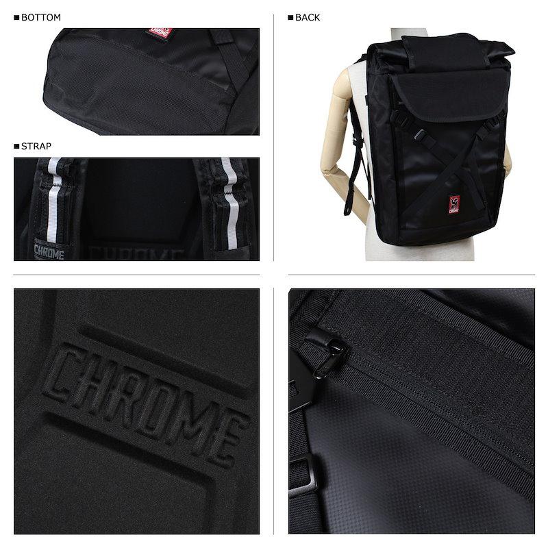 クローム リュック CHROME バッグ バックパック BG-190 BRAVO 2.0 ブラック ブラック メンズ レディース