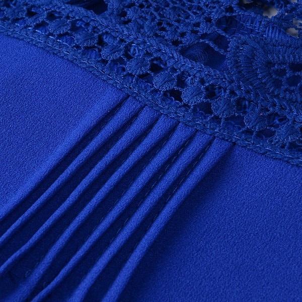 プラスサイズ夏シフォンレースのベストトップノースリーブブラウスカジュアルタンクトップTシャツS-5XL