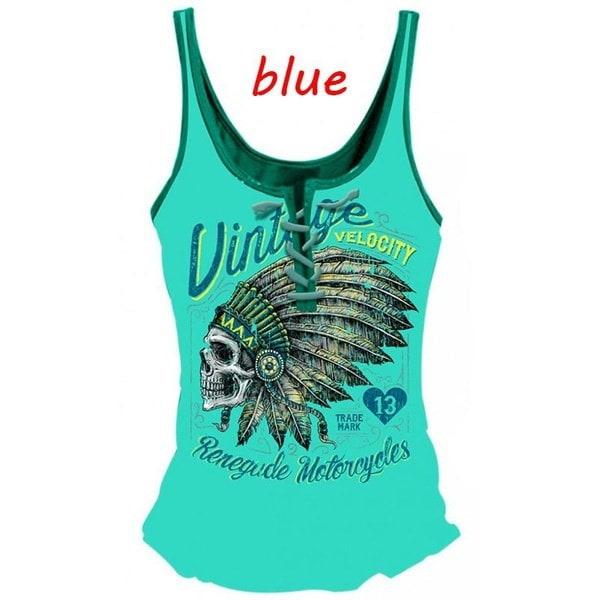 新しいファッション女性の夏のノースリーブプリントルーズコットンカジュアルタンクトップ