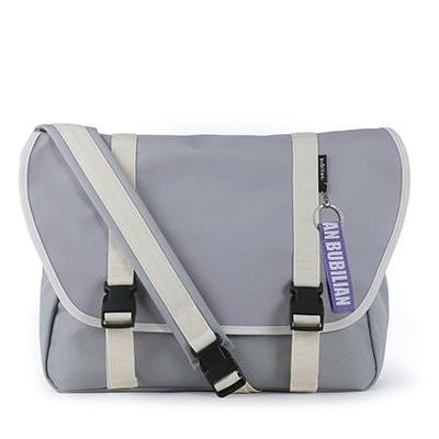 【BUBILIAN] Simple Messeger Bag メッセンジャーバッグ / 韓国の街ブランド/韓国と日本のベストセラーリュックサック/ベーシックリュックサック/旅行鞄 / Gray
