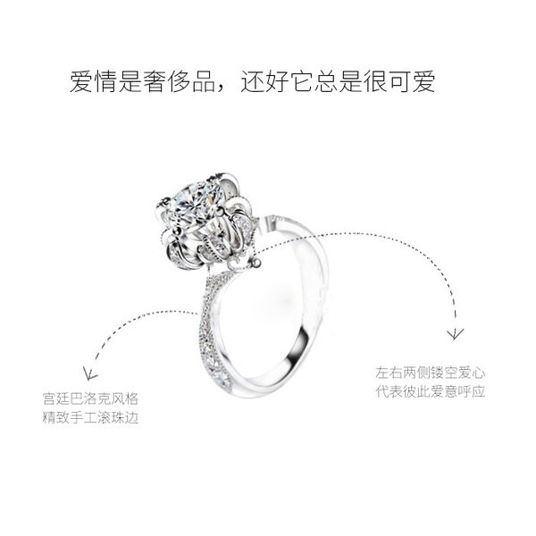 豪華な925シルバーナチュラル宝石ホワイトサファイア結婚式誕生石の花嫁トレヴィの噴水リングS