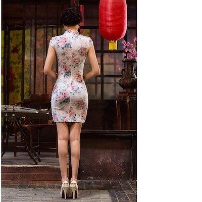 チャイナドレス ミニ チャイナドレス ロング 半袖 チャイナドレス ストレッチ ショート丈 チャイナ服 チャイナドレス