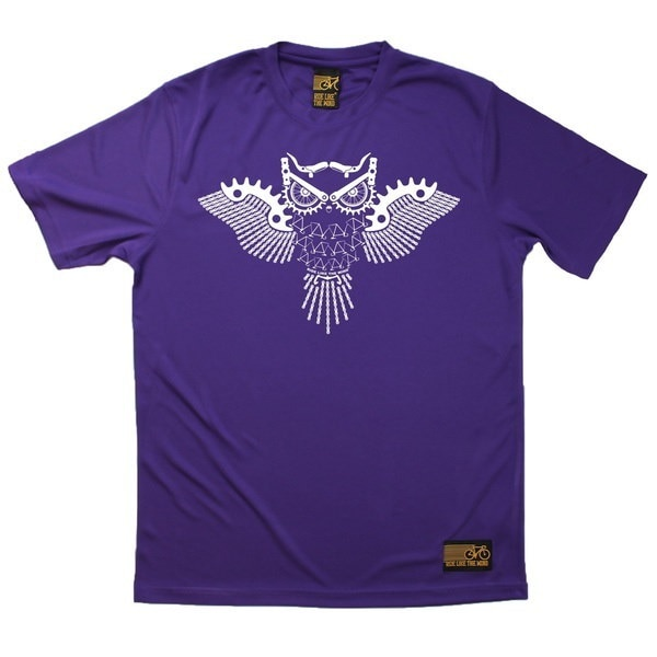 Men s RIDE LIKE THE WIND - Bicycle Gear Owl - Premium Dry Fit Breathable Sports T-SHIRT - tee top cy