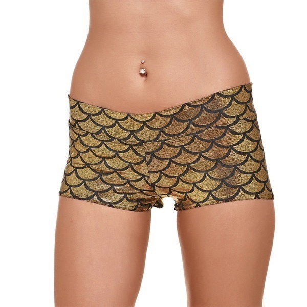 12 Colors Mermaid Scales Printed Shorts Women Sexy Sports Shorts