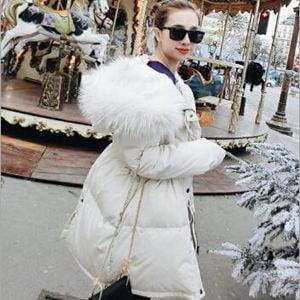 ダウン風コート 中綿コート ロングコート ダウン風ジャケット ファー フード レディース ゆったり ウェストひも付き コート アウター 暖かい 秋冬 新作