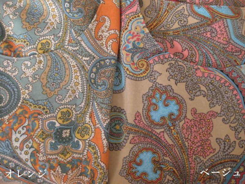 エキゾチックなペイズリー柄が魅せる、シンプル華やかチュニック LLサイズ 2色