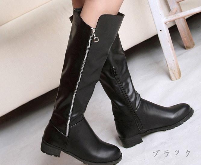 レディース  ブーツ ブーティー 美脚 ニーハイ ロングブーツ ヒール3,5cm  脚長 暖かい 定番アイテム マストアイテム シンプル 履きやすい 楽チン 疲れにくい  合成皮 フィットする 病み付きになる ミニ
