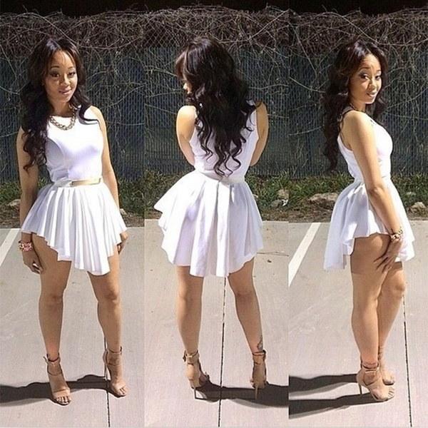 ニューサマーホワイトセクシーな女性ミニサンドレスセレブパーティーカジュアルドレスプラスサイズの女性のウエディングドレス