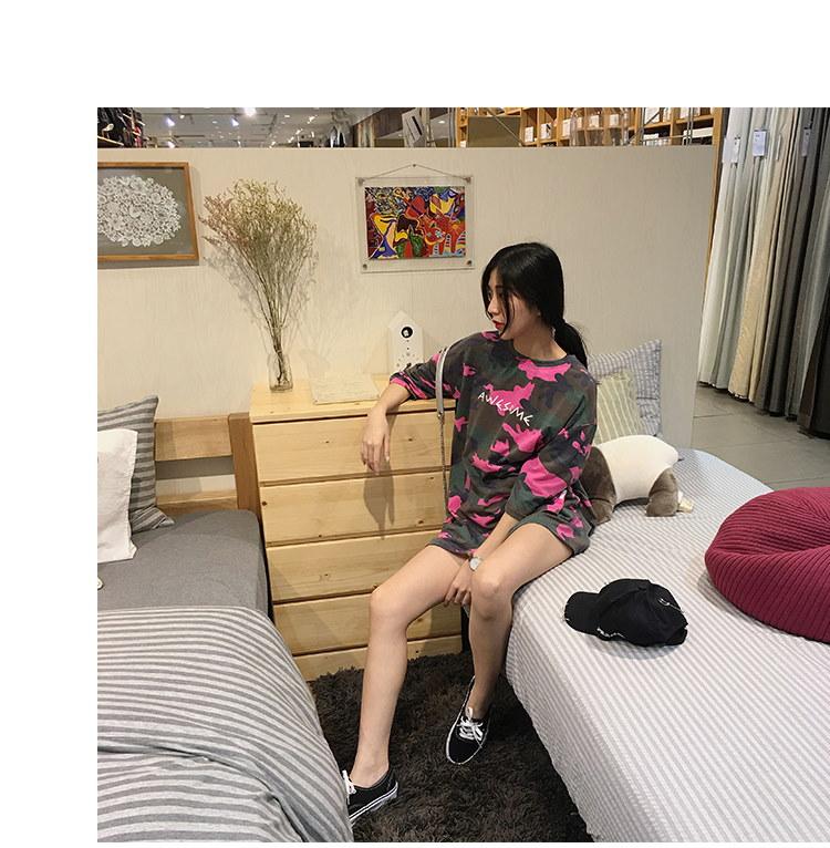 迷彩Tシャツ☆トップス ピンク カジュアル アメカジ BIG