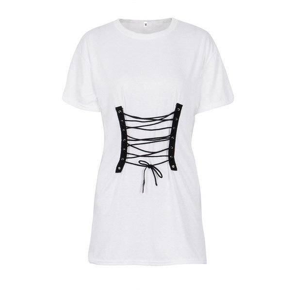 Fashion Women Summer T shirt Short Sleeve Evening Party Bandage Short Mini Dress Blouse Sundress