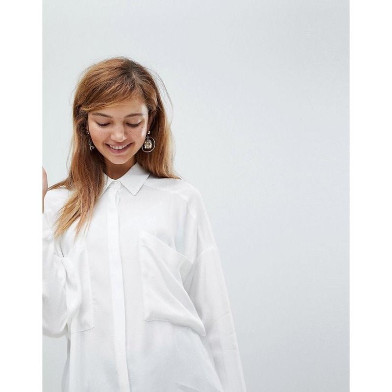 エイソス レディース トップス ブラウス・シャツ【ASOS Oversized Utility Shirt】Ivory