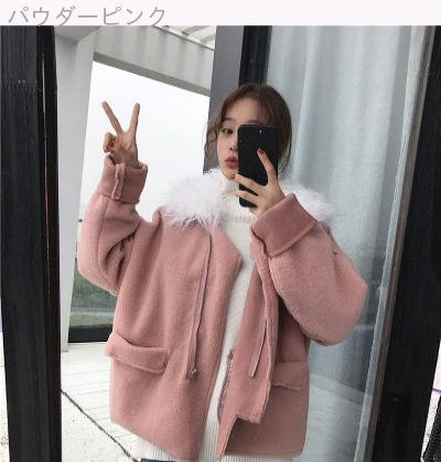 [55555SHOP]秋冬 新しいデザイン 韓国風 複雑な + レザー ベルベット ルース 何でも似合う 学生