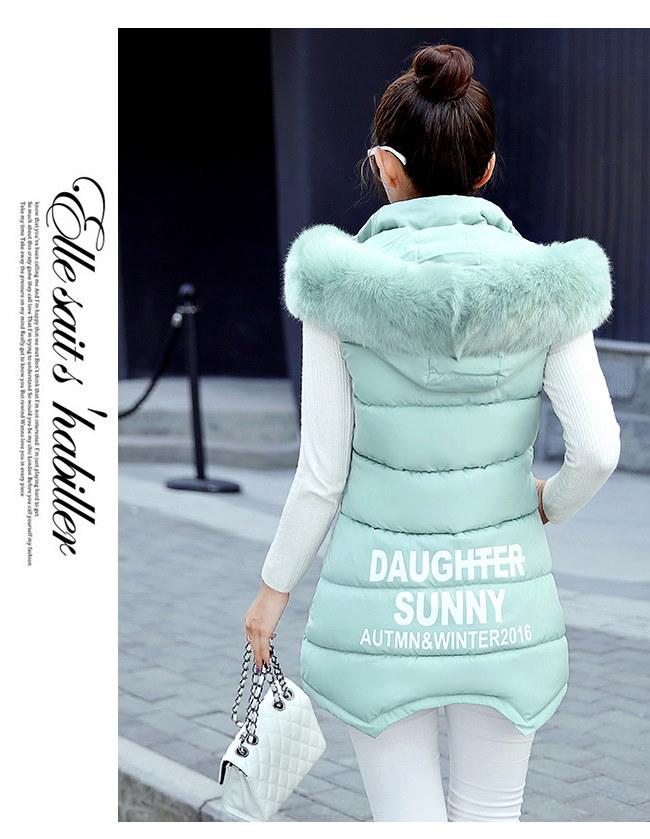 ロングベスト レディースファッション  ベスト  ジャケット 韓国 ファッション シンプル 純色  ロングタイプ 中綿入りコート 防寒 秋冬新作 大きいサイズ アウター 前開き チョッキ ベスト ルー