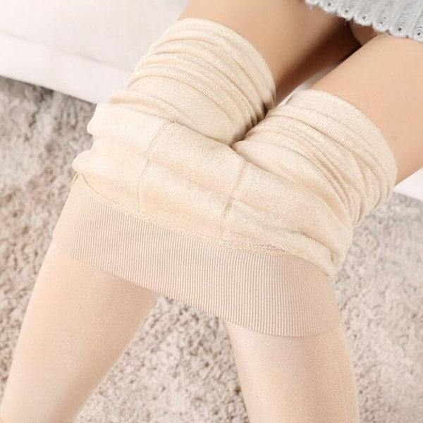 女性の柔らかい厚手のベルベットブレンドパンツブラシパンティーホースレギンスカジュアルな秋プラスサイズ