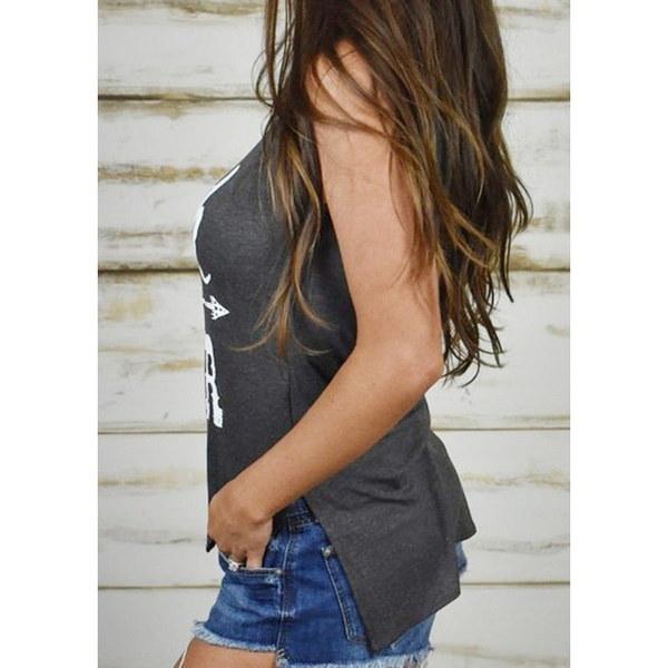 女性の夏ファッション信仰の信仰の手紙のプリントTシャツノースリーブのベストカジュアルなティータンクトップ