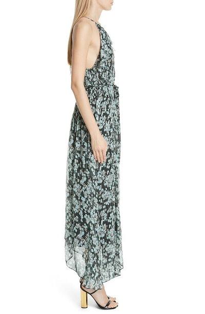 ジェイソンウー レディース ワンピース トップス Jason Wu Metallic Floral Print Silk Maxi Dress
