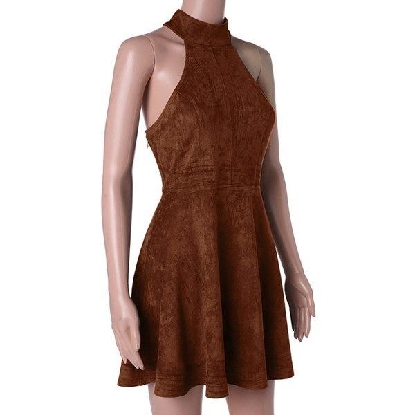 夏の女性パーティーバンデージレースアップドレスオフショルダーセクシーなバックレスカジュアルソリッドプリーツミニドレス