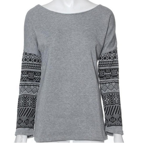 NEWレディースファッションロングスリーブカジュアルルーズセクシーレディースTシャツトップブラウス特大サイズ