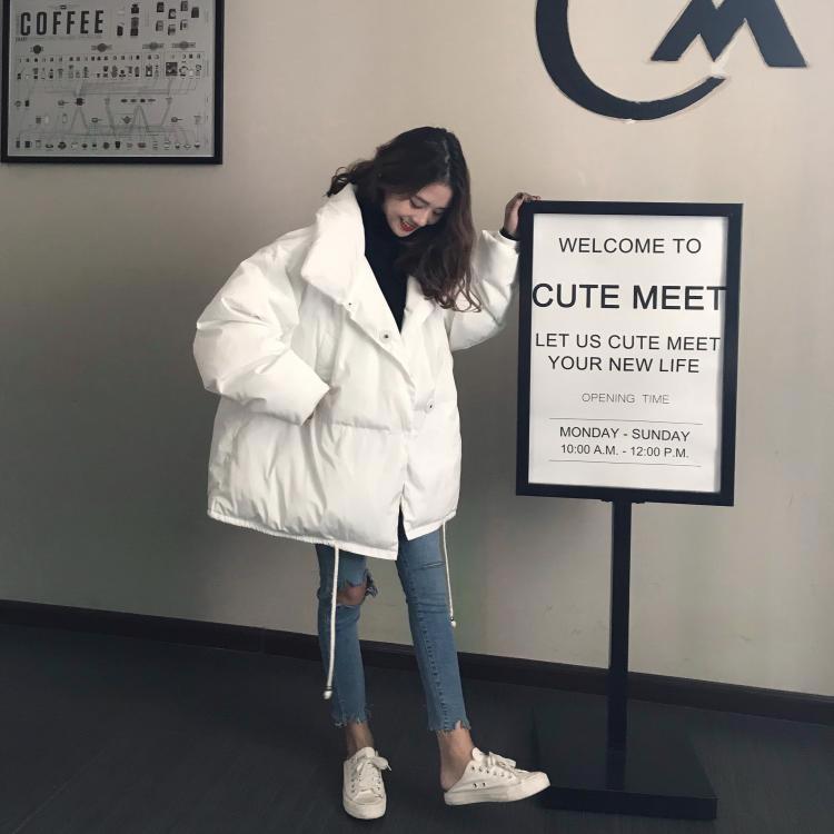 45678(韓国ファッション)大人可愛い♪ 大サイズのパン服 綿パッティングジャケットコート