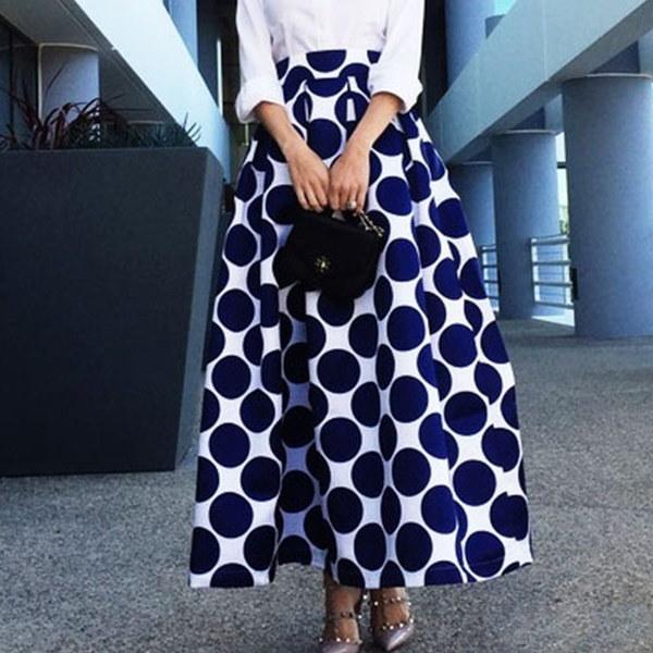 Women Fashion Charming Pocket High Waist Ankle Length Long A Line Skirts