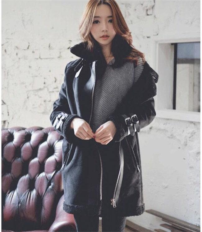 フェイクムートンコート レディース  ボアフリースコート  韓国ファッション 厚手 もこもこ フェイクファーコート秋 冬   上品 暖かい  トレディース アウター 裏ボア ショート丈  着心地抜群