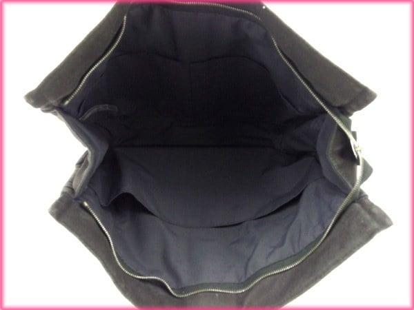 エルメス HERMES クラッチバッグ セカンドバッグ メンズ可 フールトゥ ブラック×グレー 綿100% (あす楽対応)良品 人気【中古】 N227 .