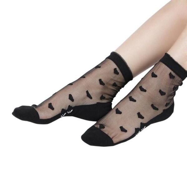 新しい超薄型弾性シルキーショートシルクストッキング女性の足首ソックスホット