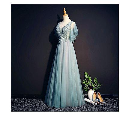 【送料無料】チュールレース切替 ロングドレス【大きいサイズ レディース キャバ 二次会 花嫁 結婚式 ワンピース ロングドレス ミニドレス dress】