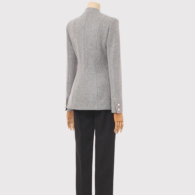 [77まで] [ウール混] パールボタンモダンラインウールジャケット/韓国ファッション