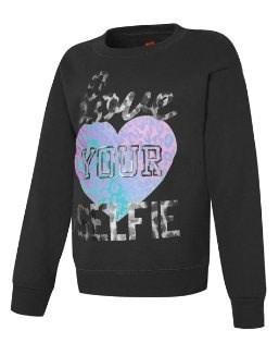 Hanes Girlsはあなたのセルフクルーネックスウェットシャツを愛しています