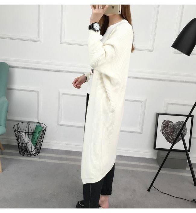 レディースファッション 女性 アウター コート オーバー 羽織 冬 秋 ニット カーディガン カーデ ロング丈 柔らかい肌触り 抜け感 流行 モコモコ 優しい印象ノーカラー 無地 可愛い