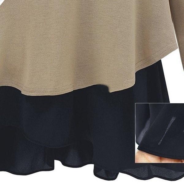 ファッショントップスカジュアルプルオーバー厚手のOネックルーズ長袖セーターニットブラウスカーキグレー
