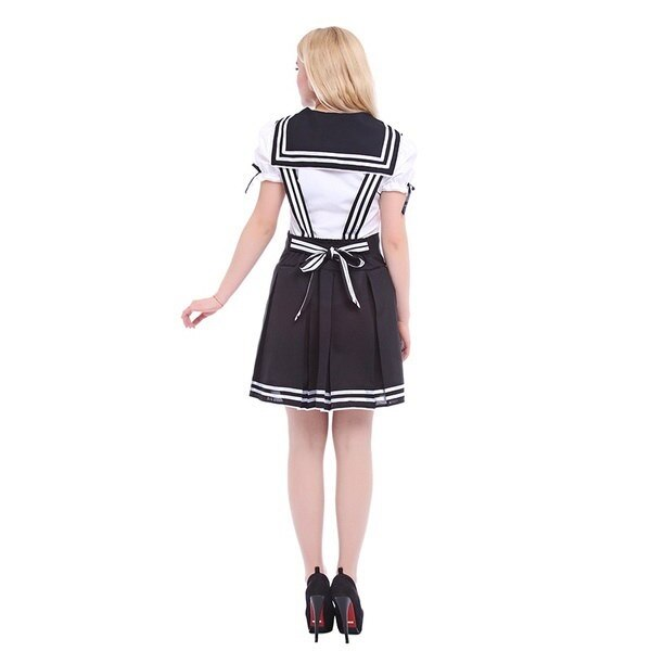 ROLECOS Japanese School Uniform Women Sailor Maid Uniform Cosplay Costume
