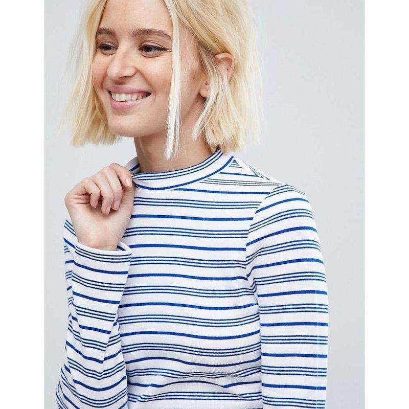 リバーアイランド レディース トップス【River Island Stripe Long Sleeve Top】Stripe