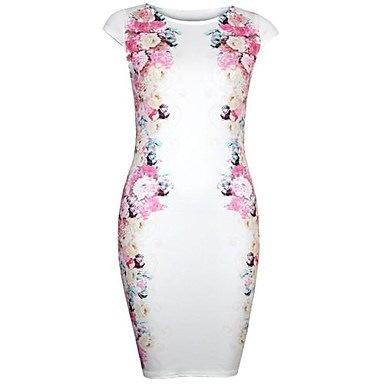 女性の花柄スリムドレス