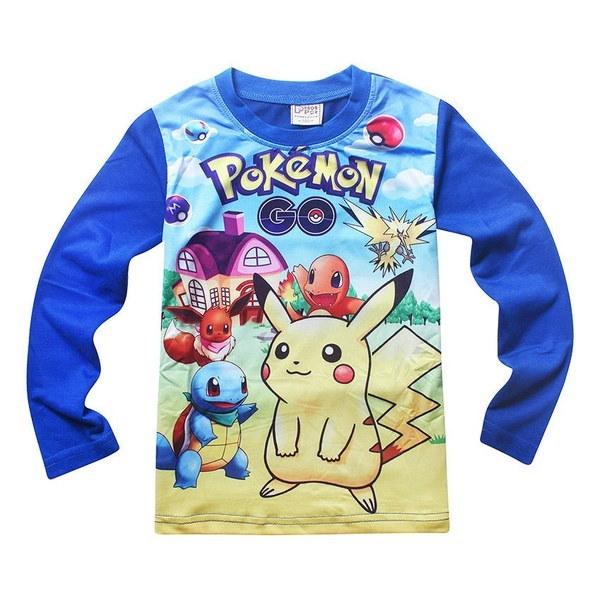 Kids Boys Girls Cartoon Pikachu Pokemon Go Soft Cosplay Sleepwear Pajama Sets