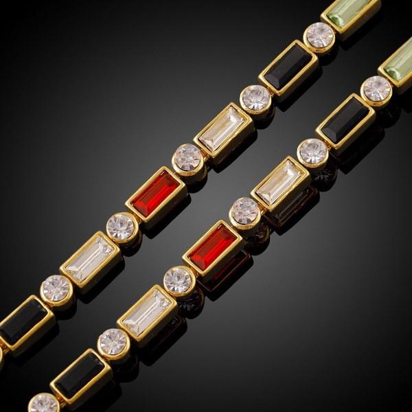 ファッション貿易ジルコンハンドブティック18kゴールドメッキ銅ブレスレット(カラー:ゴールド)