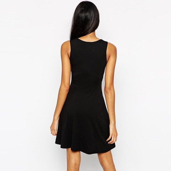 S -3XLプラスサイズの女性セクシーなVネックベストドレス夏の女性ノースリーブハイウエストスイングドレスローブドレス