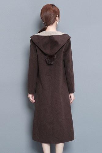 ラシャコート スリム モコモコ 無地 ボタン ポケット 韓国風 ファッション