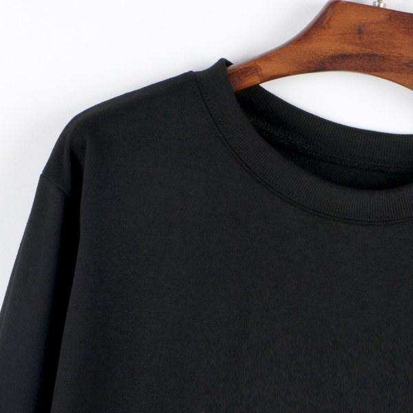 高品質のスポーツスーツスマイルフェイスニルヴァーナレタープリントプルオーバーカジュアルブラックスウェットシャツ